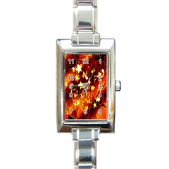 Background Pattern Lines Oval Rectangle Italian Charm Watch
