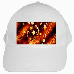 Background Pattern Lines Oval White Cap