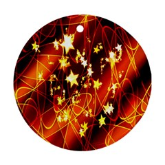 Background Pattern Lines Oval Ornament (round)