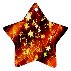 Background Pattern Lines Oval Ornament (star)