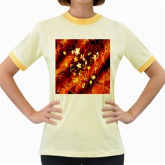 Background Pattern Lines Oval Women s Fitted Ringer T Shirts