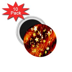 Background Pattern Lines Oval 1 75  Magnets (10 Pack)