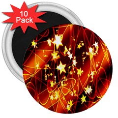 Background Pattern Lines Oval 3  Magnets (10 pack)