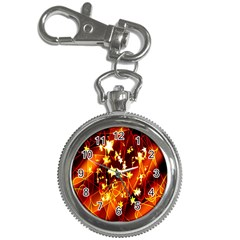 Background Pattern Lines Oval Key Chain Watches