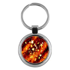 Background Pattern Lines Oval Key Chains (Round)