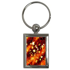 Background Pattern Lines Oval Key Chains (Rectangle)