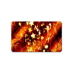 Background Pattern Lines Oval Magnet (name Card)