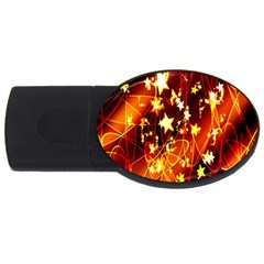 Background Pattern Lines Oval Usb Flash Drive Oval (2 Gb)
