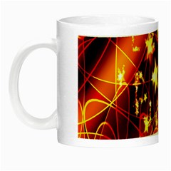 Background Pattern Lines Oval Night Luminous Mugs