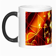Background Pattern Lines Oval Morph Mugs