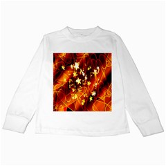 Background Pattern Lines Oval Kids Long Sleeve T Shirts