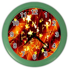 Background Pattern Lines Oval Color Wall Clocks