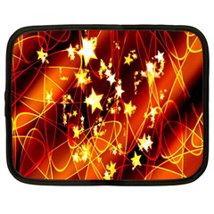 Background Pattern Lines Oval Netbook Case (large)
