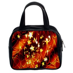 Background Pattern Lines Oval Classic Handbags (2 Sides)