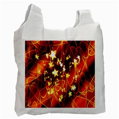 Background Pattern Lines Oval Recycle Bag (One Side)
