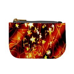 Background Pattern Lines Oval Mini Coin Purses