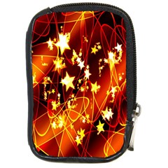Background Pattern Lines Oval Compact Camera Cases
