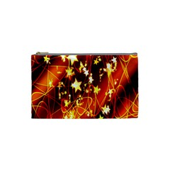 Background Pattern Lines Oval Cosmetic Bag (small)