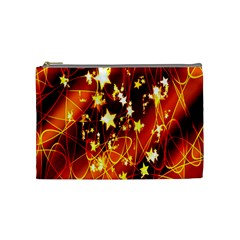 Background Pattern Lines Oval Cosmetic Bag (medium)