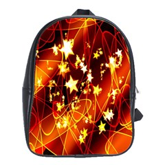 Background Pattern Lines Oval School Bags(large)