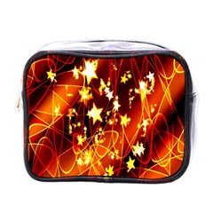 Background Pattern Lines Oval Mini Toiletries Bags