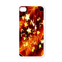 Background Pattern Lines Oval Apple Iphone 4 Case (white)