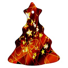 Background Pattern Lines Oval Christmas Tree Ornament (two Sides)