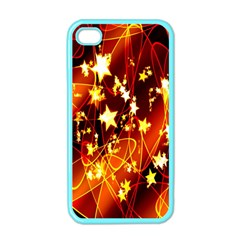 Background Pattern Lines Oval Apple iPhone 4 Case (Color)