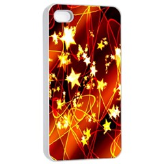 Background Pattern Lines Oval Apple Iphone 4/4s Seamless Case (white)