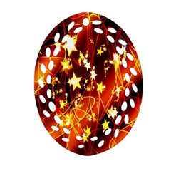 Background Pattern Lines Oval Ornament (oval Filigree)