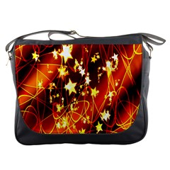 Background Pattern Lines Oval Messenger Bags