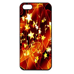 Background Pattern Lines Oval Apple Iphone 5 Seamless Case (black)