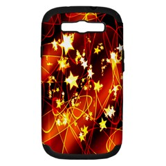 Background Pattern Lines Oval Samsung Galaxy S Iii Hardshell Case (pc+silicone)