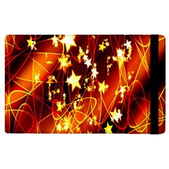 Background Pattern Lines Oval Apple Ipad 3/4 Flip Case
