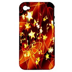 Background Pattern Lines Oval Apple Iphone 4/4s Hardshell Case (pc+silicone)