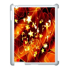 Background Pattern Lines Oval Apple Ipad 3/4 Case (white)
