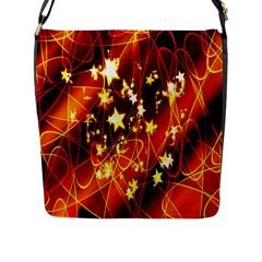 Background Pattern Lines Oval Flap Messenger Bag (l)