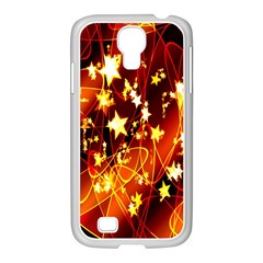 Background Pattern Lines Oval Samsung Galaxy S4 I9500/ I9505 Case (white)