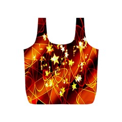 Background Pattern Lines Oval Full Print Recycle Bags (s)