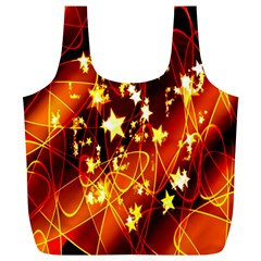 Background Pattern Lines Oval Full Print Recycle Bags (l)