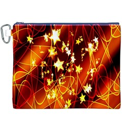 Background Pattern Lines Oval Canvas Cosmetic Bag (xxxl)