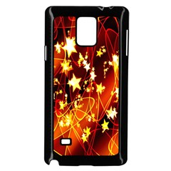 Background Pattern Lines Oval Samsung Galaxy Note 4 Case (black)