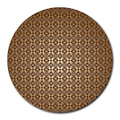Background Seamless Repetition Round Mousepads