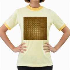 Background Seamless Repetition Women s Fitted Ringer T Shirts