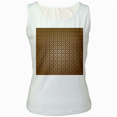 Background Seamless Repetition Women s White Tank Top