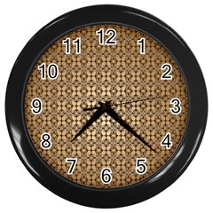 Background Seamless Repetition Wall Clocks (black)