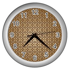 Background Seamless Repetition Wall Clocks (Silver)