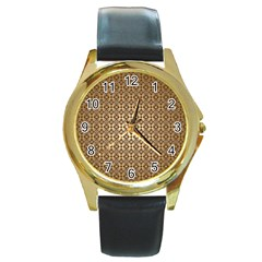 Background Seamless Repetition Round Gold Metal Watch