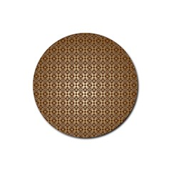 Background Seamless Repetition Rubber Round Coaster (4 Pack)