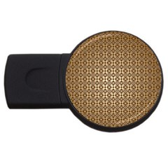 Background Seamless Repetition USB Flash Drive Round (2 GB)